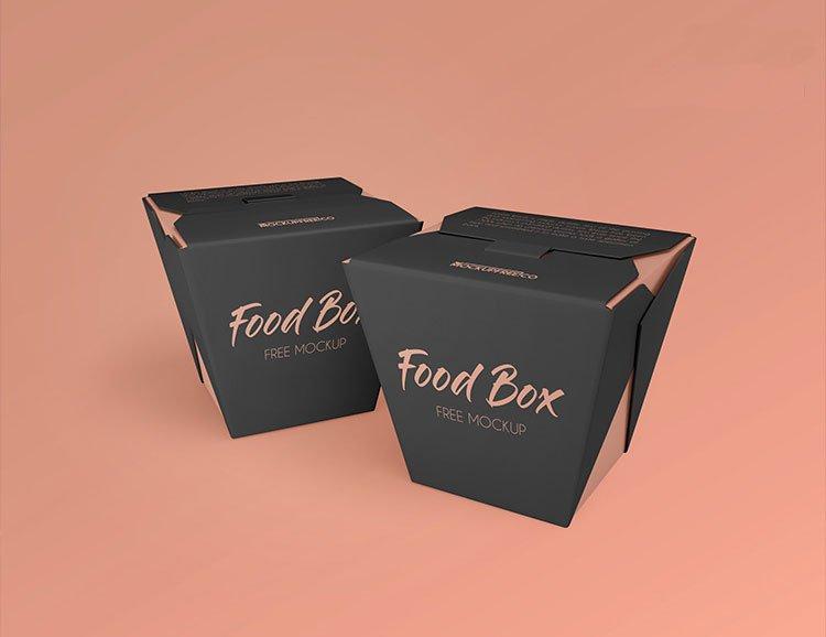 Free Food Box Mockups Mockuptree