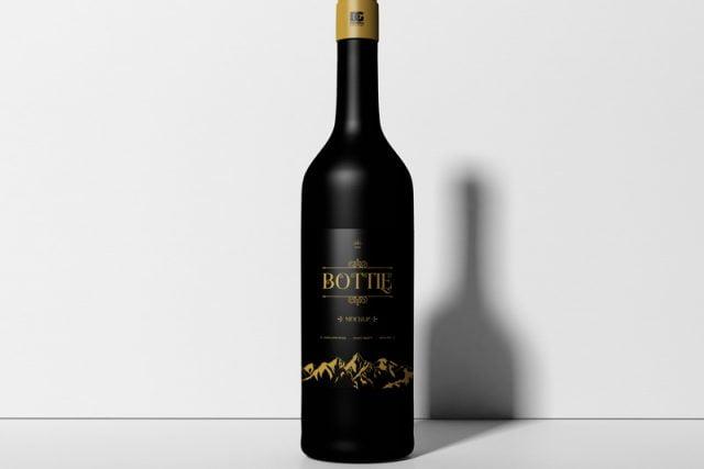 free bottle mockup