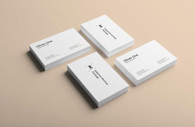 150 Best Free Business Card Mockups Mockuptree