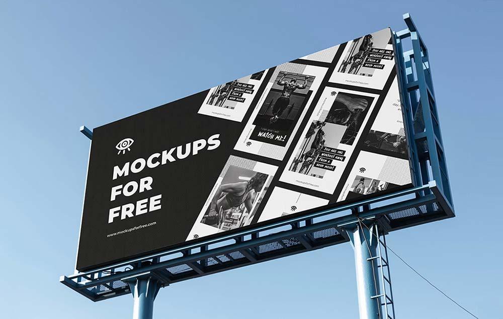 Free Standard Billboard Mockup