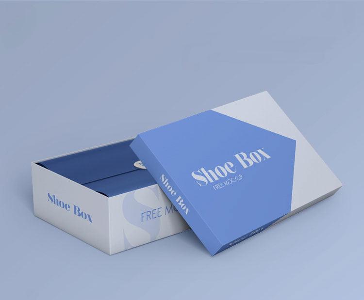 Free Shoe Box Mockup