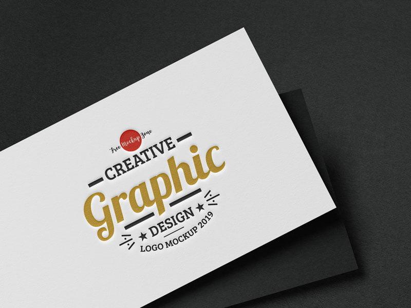 Free Modern Logo Mockup