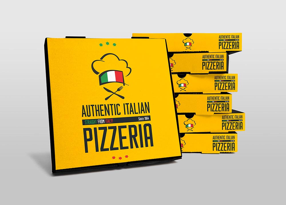 Free Pizza Boxes Mockup