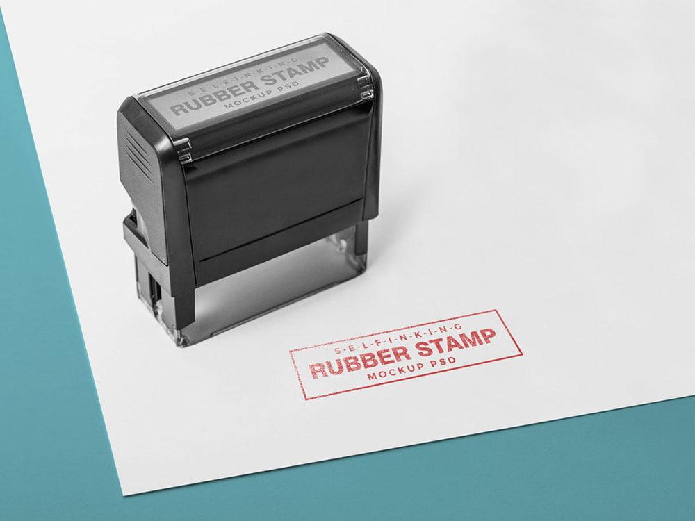 Free Rubber Stamp Mockup