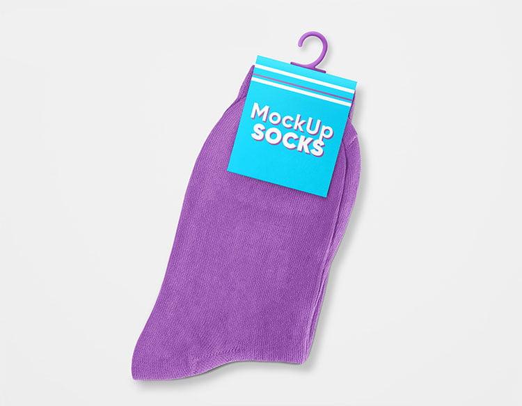 Free Socks Mockup