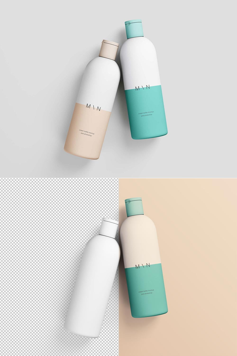 Free Cosmetic Bottles Mockup