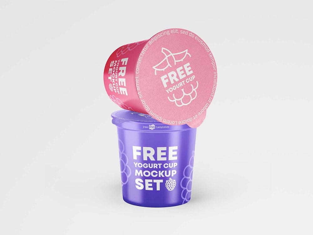 Free Yogurt Cup Mockup