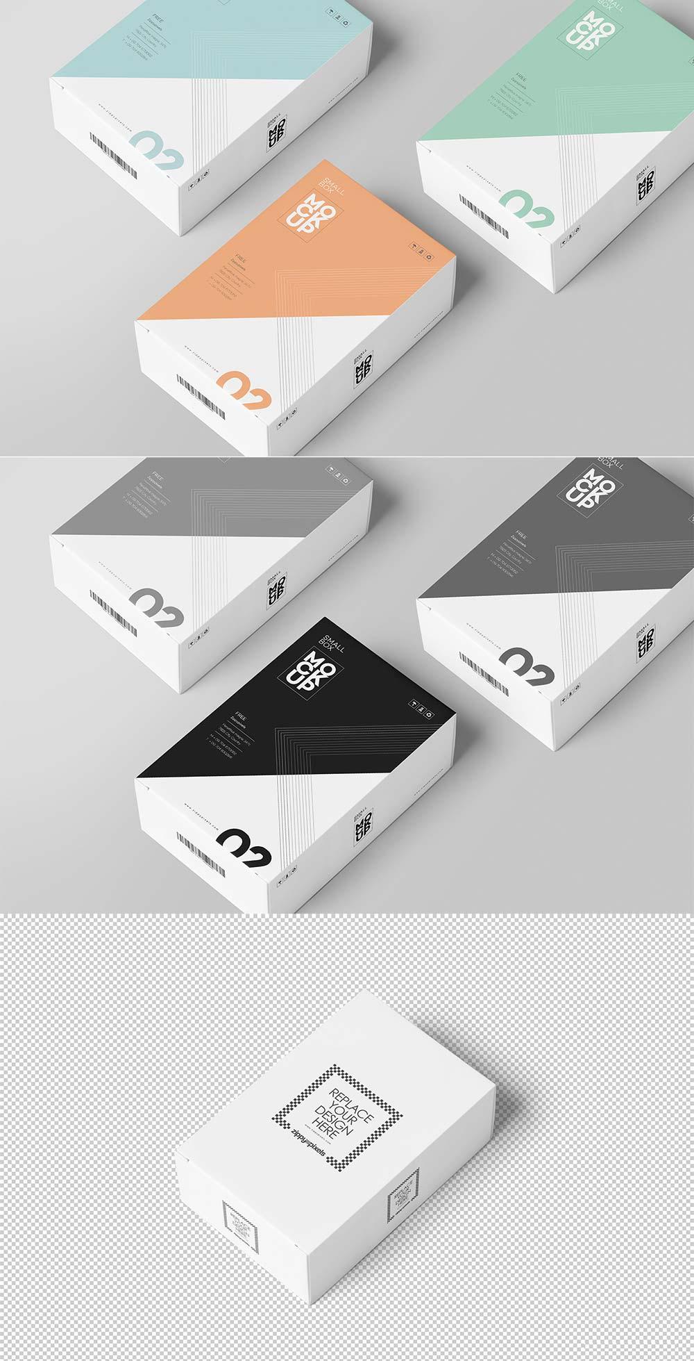 Free Card Box Mockup