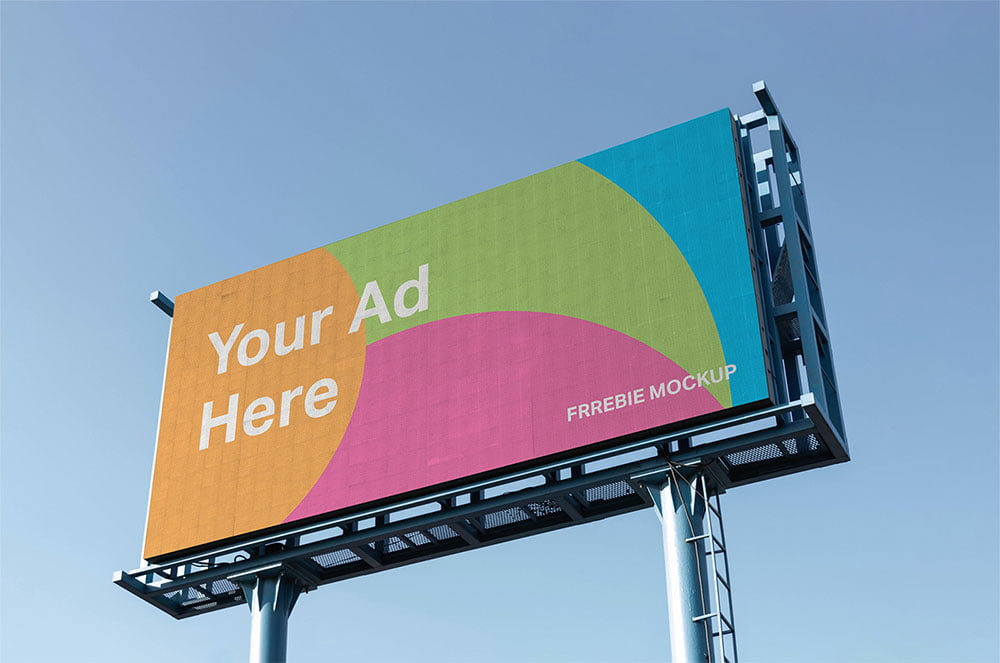 Free Landscape Billboard Mockup