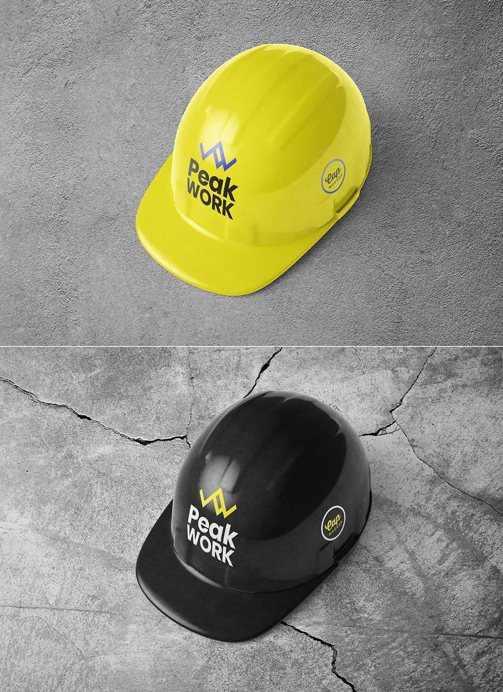 Free Helmet Cap Mockup