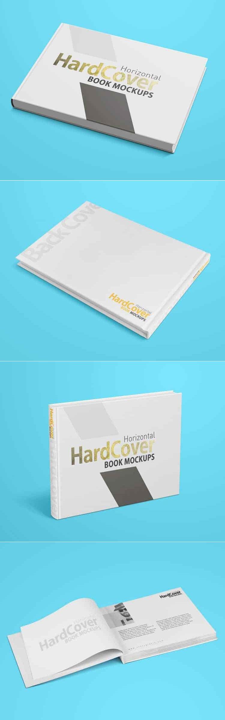 Free Landscape Hardcover Book Mockups