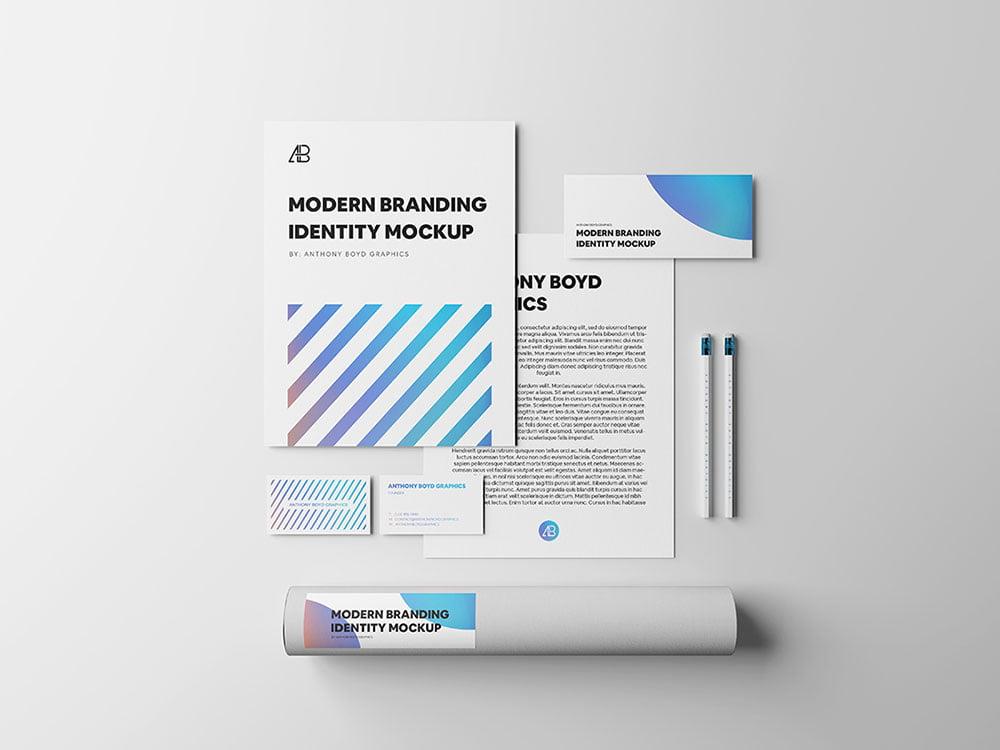 Free Modern Branding Identity Mockup