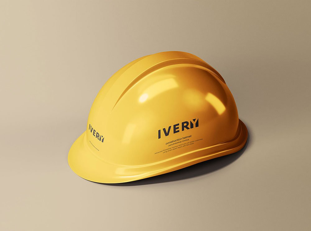 Free Construction Helmet Mockup