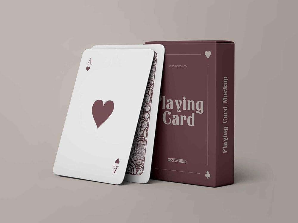 free playing cards mockup  mockuptree