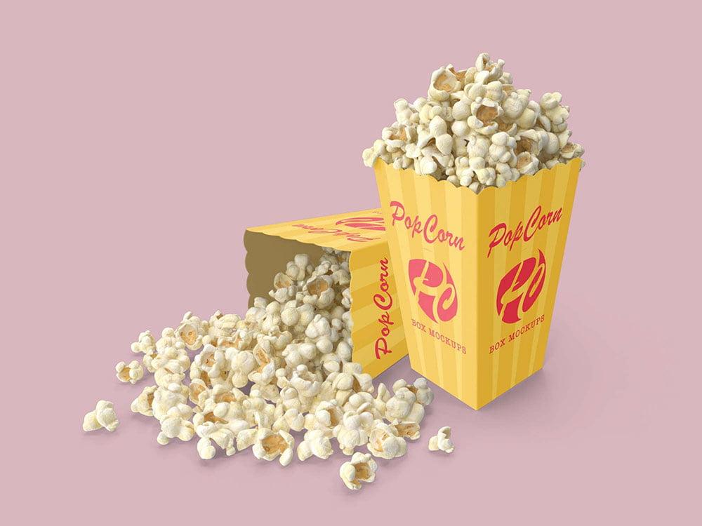 Free Popcorn Box Mockup