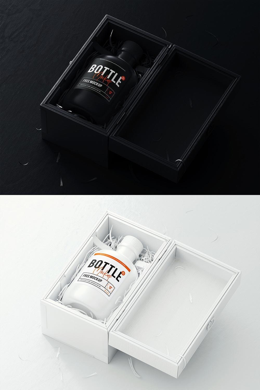 Free Cork Bottle Mockup