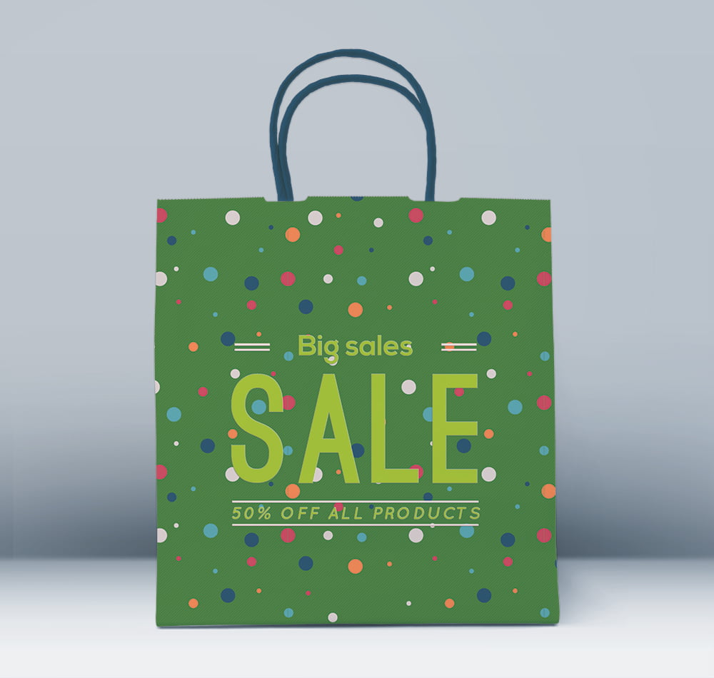 Free Front Shopping Bag Mockup