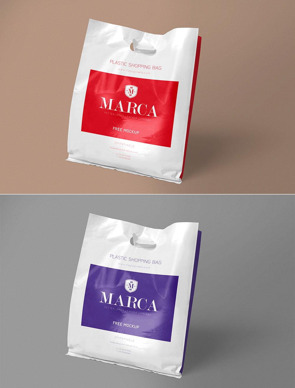 Free Plastic Bag Mockup