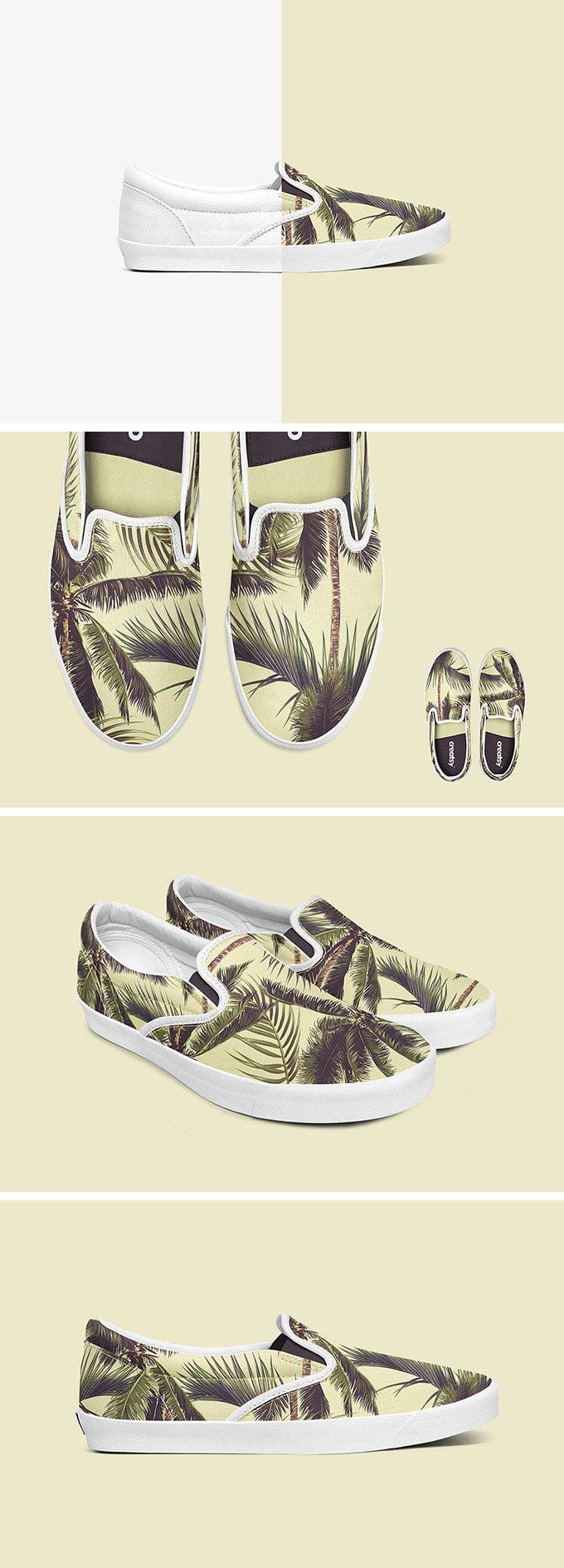Free Slip-on Shoes Mockup Set