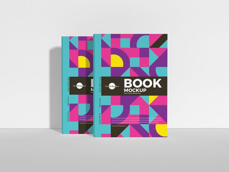Free Book Cover Branding Mockup