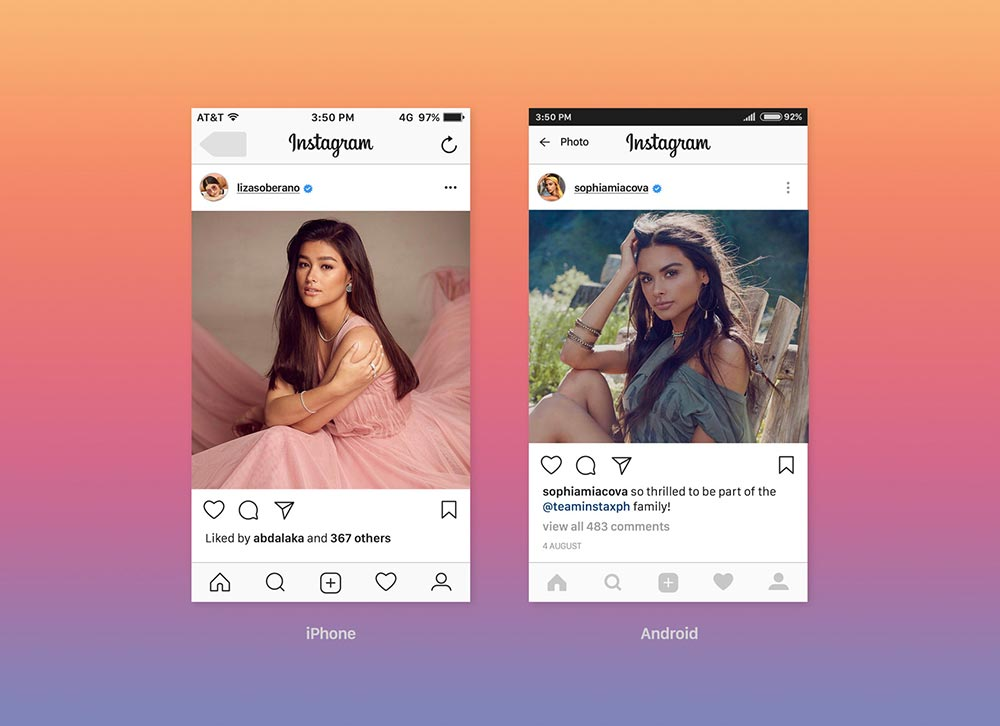 Free Instagram Feed Screen Mockup