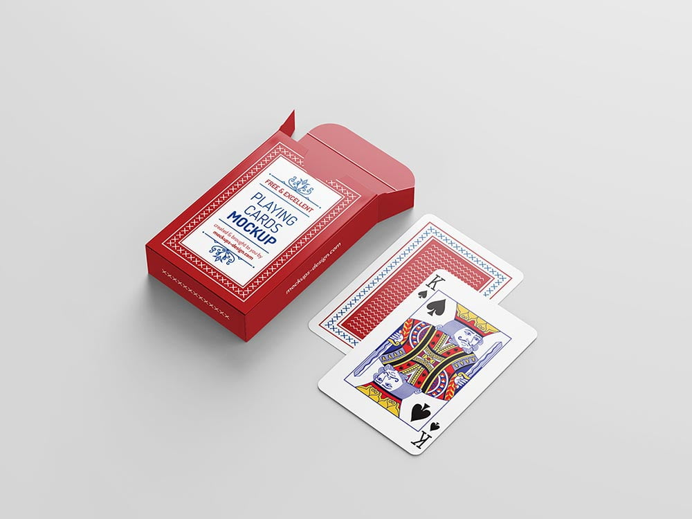 Free Playing Card Packaging Mockup