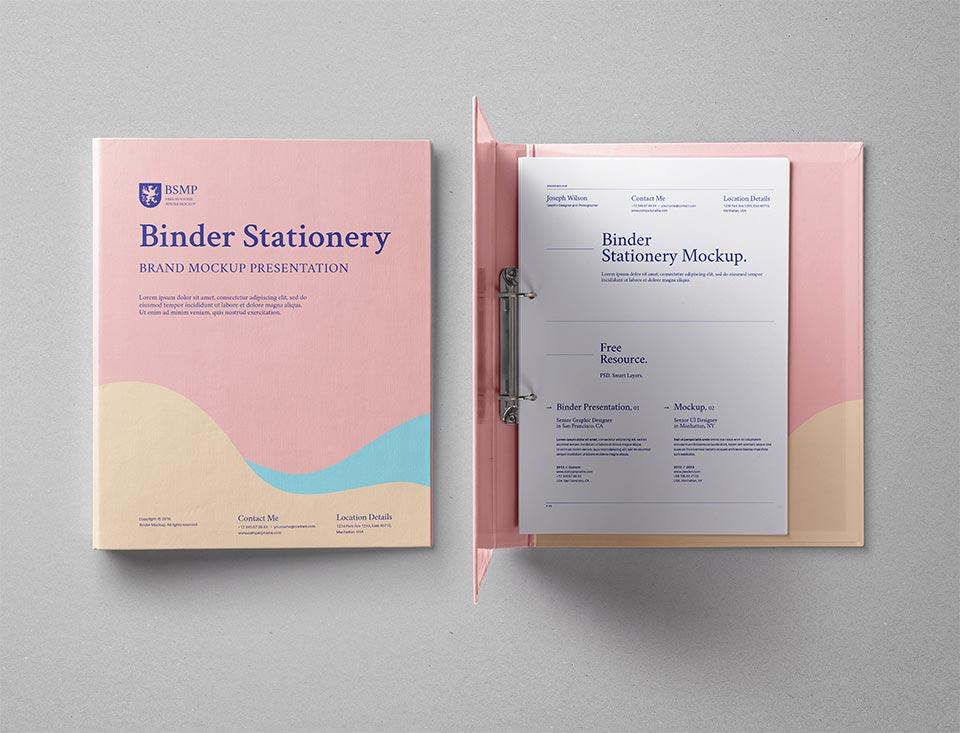 Free Ring Binder Folder Mockup