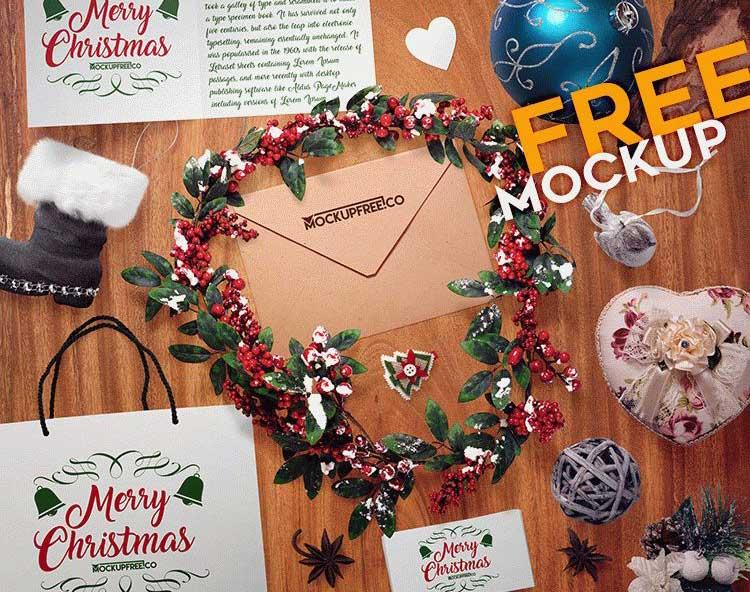 Free Christmas Scene Mockups