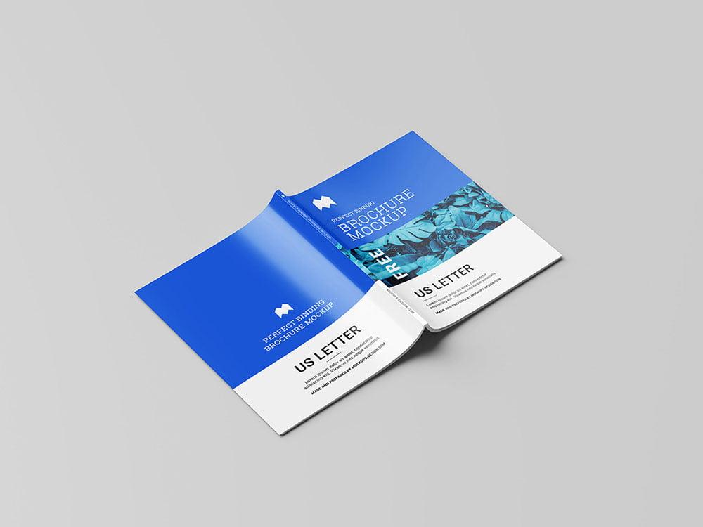 Free US Letter Brochure Mockup