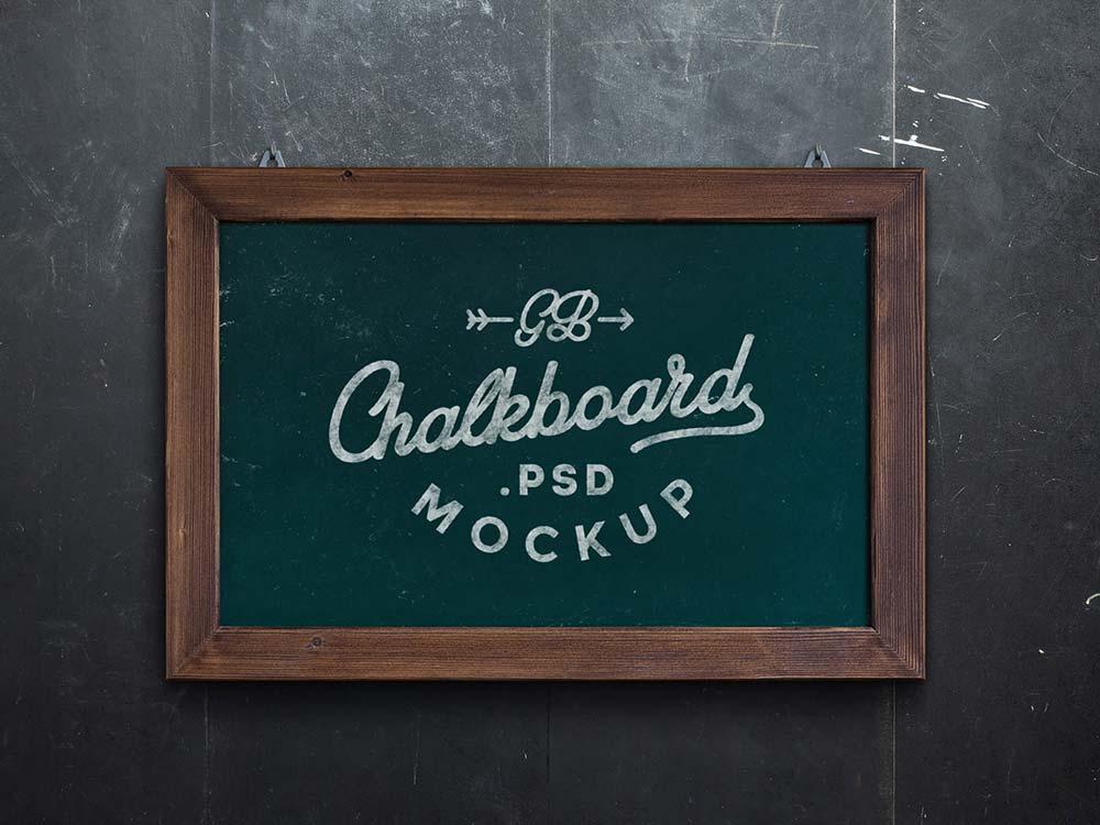 Free Chalkboard Mockup