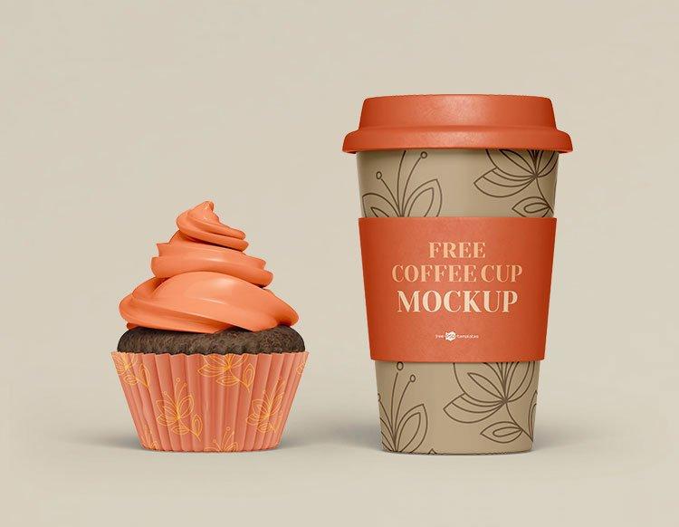 Free Coffee Set Mockup