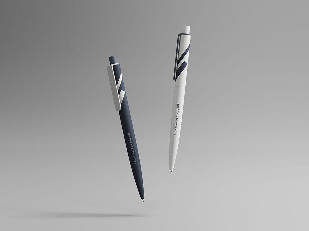 Free Floating Pens Mockup