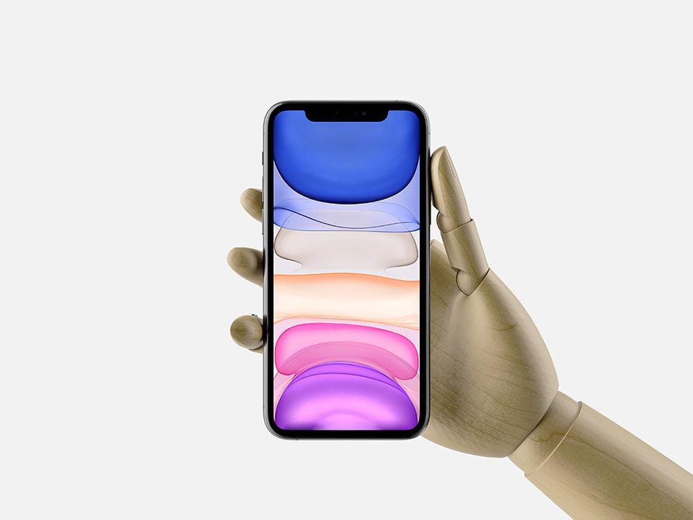 Free Hand Holding iPhone 11 Pro Max Mockup