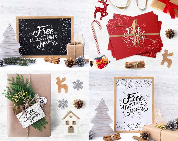 Free Christmas Time Mockup