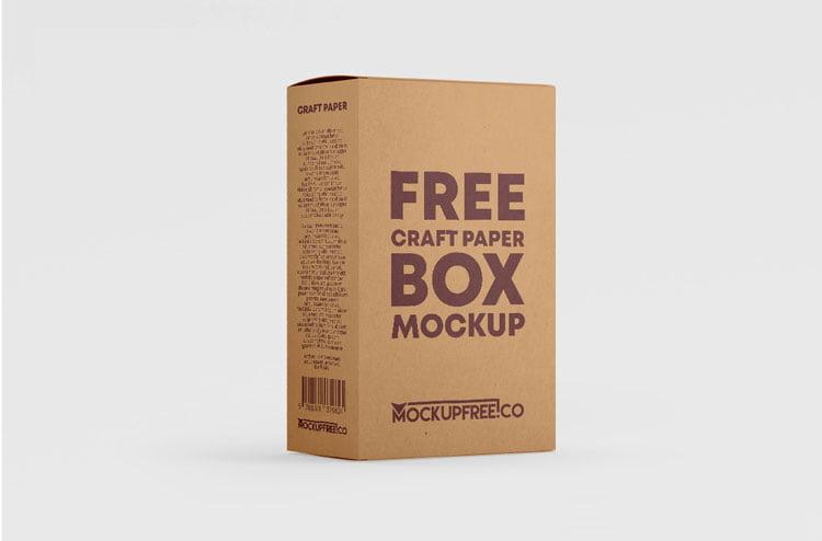 Free Kraft Paper Box Mockup