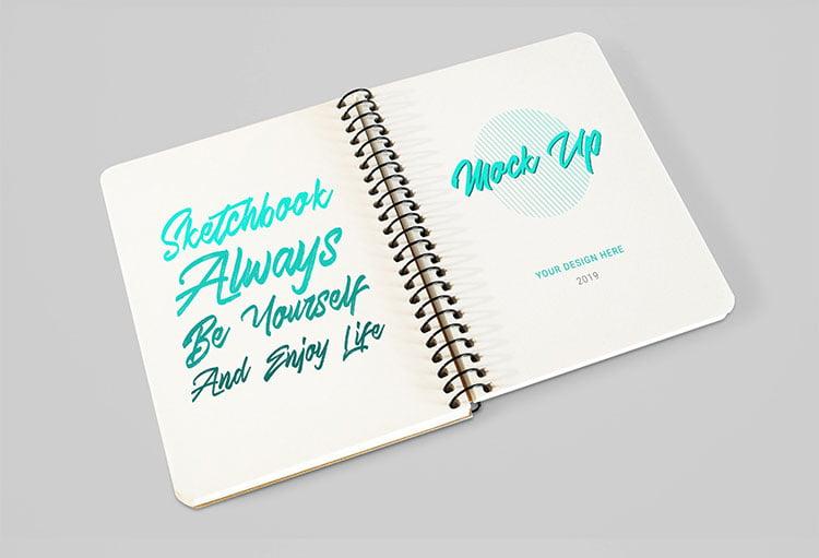 Free Sketchbook Mockup