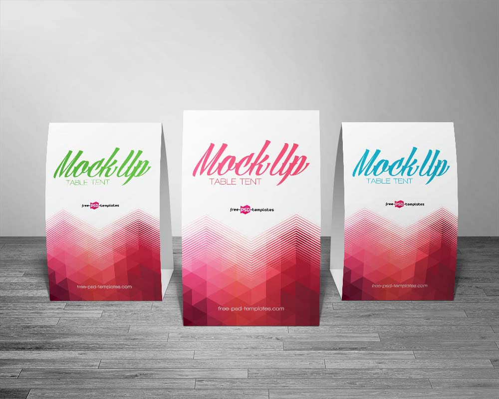 Free Table Tent Mockups