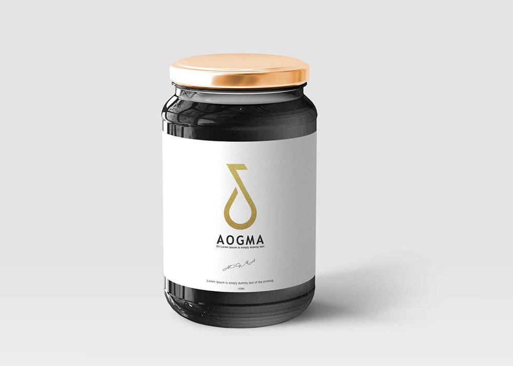 Free Black Jar Bottle Mockup