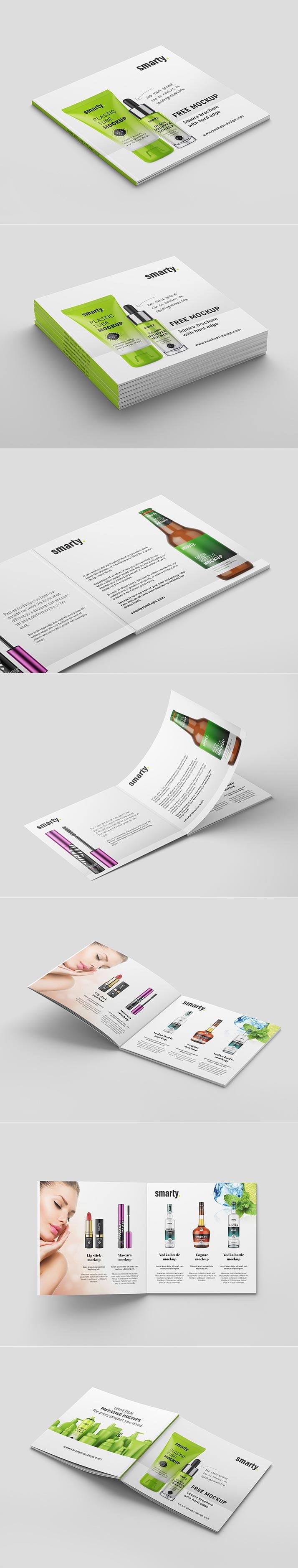 Free Square Brochure Mock-ups