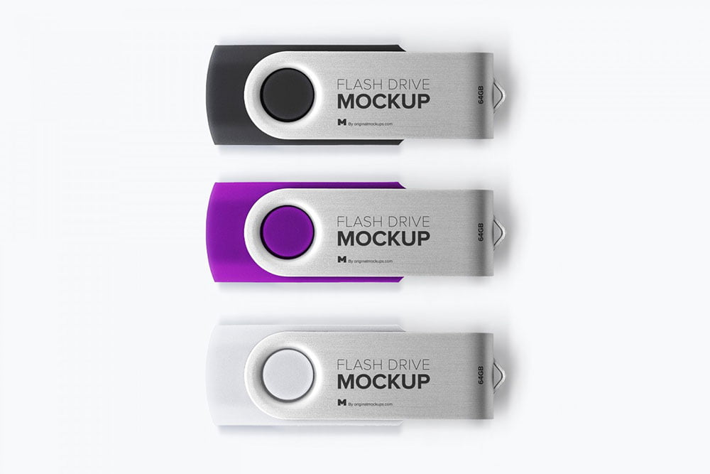 Free USB Flash Drive Mockups