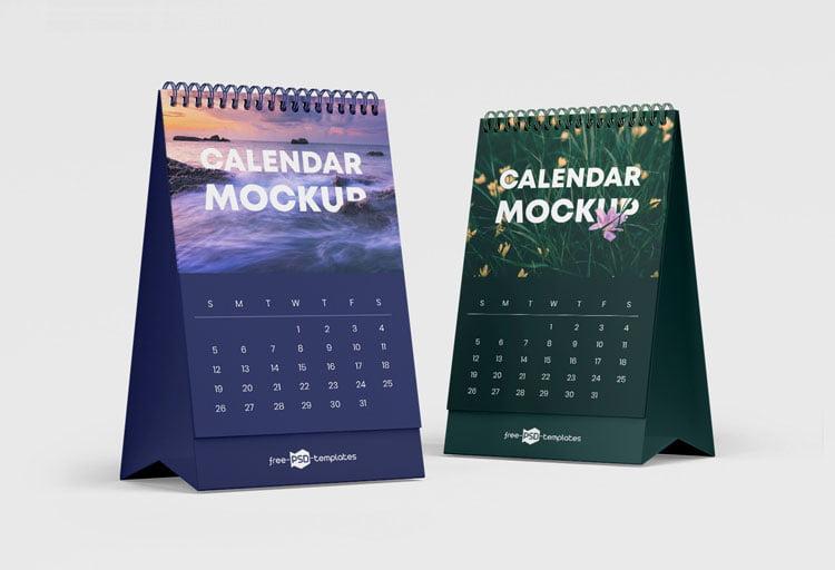 Free Calendar Mockup Set