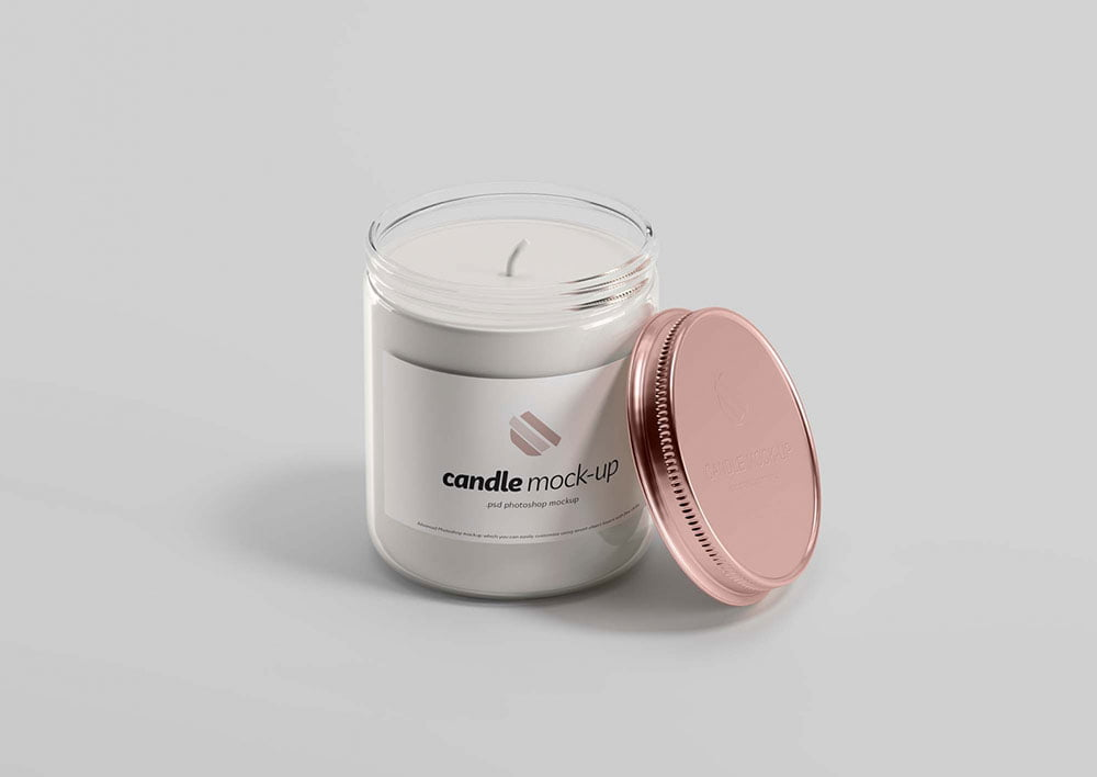 Free Branded Candle Mockup