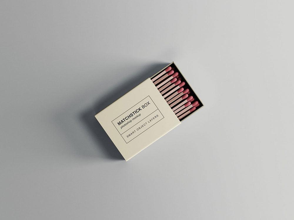 Free Matchstick Box Mockup