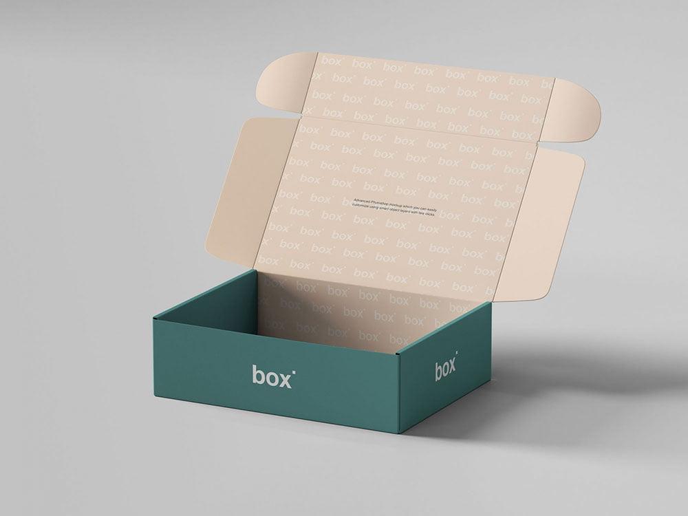 free Pinch Lock Box Mockup