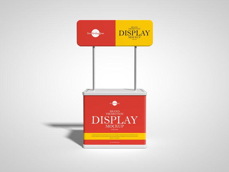 Free Brand Promotion Display Mockup