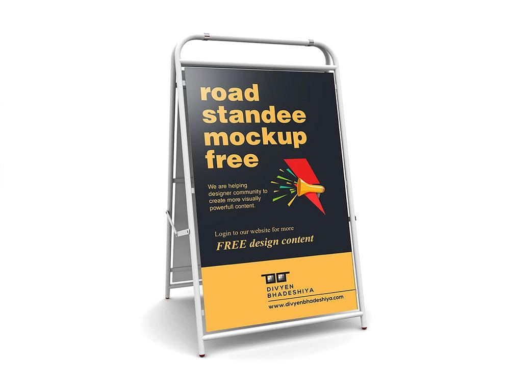 Free Road Standee Mockup