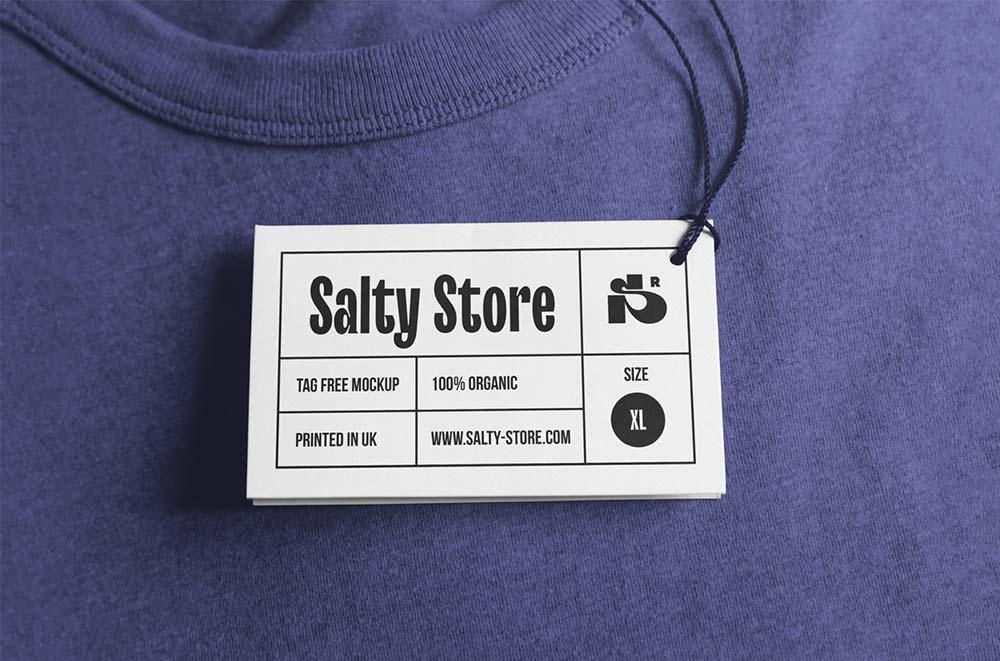 Free Clothing Tag Mockup Psd Mockuptree