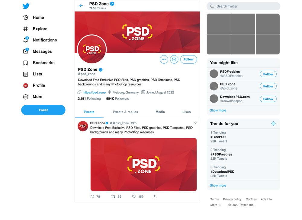 Free Twitter Post Mockup