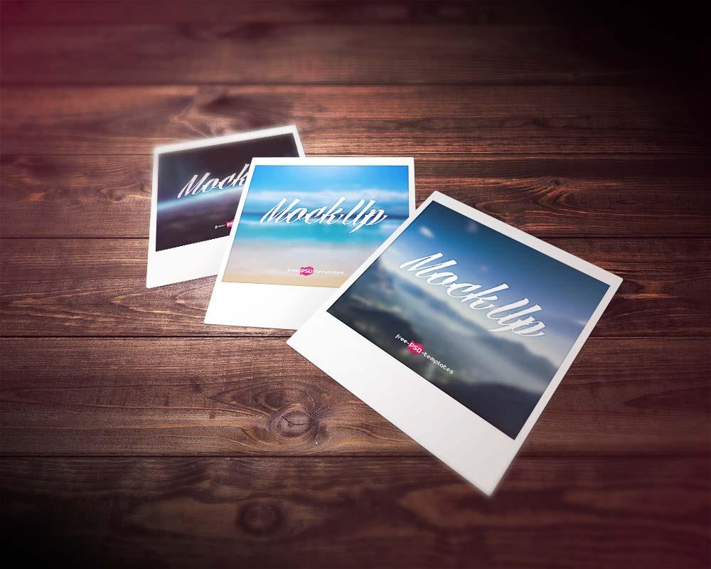 Free Polaroid Photo Mockup