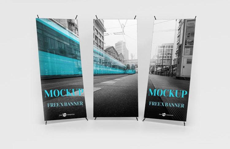 free x-banner mockup-www.mockuphill.com